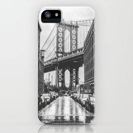 DUMBO, Brooklyn NY Black and White iPhone Case