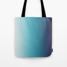 Blue White Gradient Tote Bag