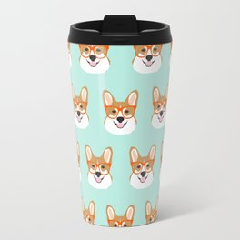 Corgi glasses cute funny dog gifts for welsh corgi dog breed owners must haves by pet friendly Travel Mug