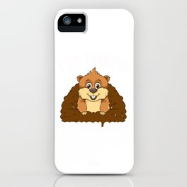 I'm Not A Meteorologist Funny Groundhog Pun iPhone Case