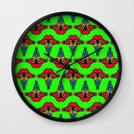 Mouth Tongue on Green  - L.O.B. Wall Clock