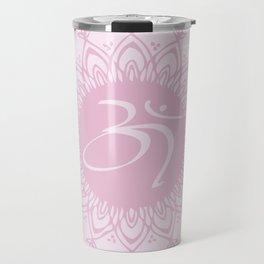 Pink Aum Travel Mug