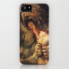 SATURN DEVOURING HIS SON - GOYA iPhone Case