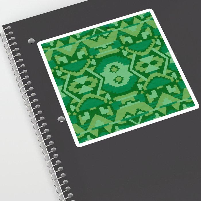 Geometric Aztec in Forest Green Sticker