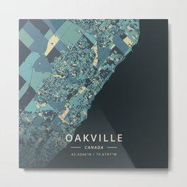 Oakville, Canada - Cream Blue Metal Print