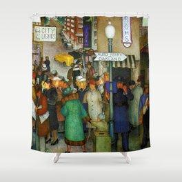 Coit Tower San Francisco City Scene Mural Shower Curtain