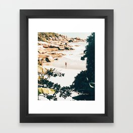 Solo Traveler || #illustration #travel Framed Art Print
