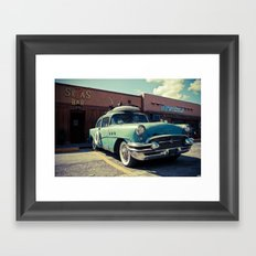 the buick (brown edition) Framed Art Print