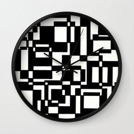 Squares Black´n´White Wall Clock