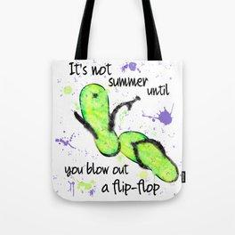 Blow Out a Flip-flop Tote Bag