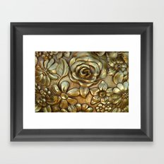 Golden Rose Pattern Art Framed Art Print