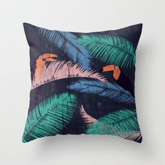 Palms in the Sand | Animals Throw Pillow