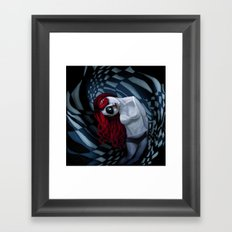 the dark side of my mind hurts Framed Art Print