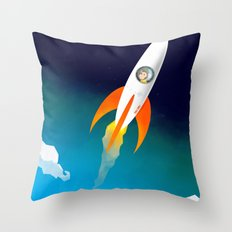 Rocket to the stars! Throw Pillow