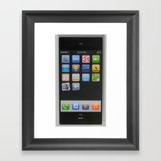 iPhone protoype Framed Art Print