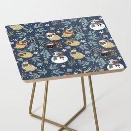 Christmas Pugs Side Table