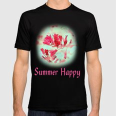 pretty pink summer flowers, summer happy floral photo art. Mens Fitted Tee Black MEDIUM