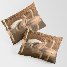 Trumpeter Swan Family Pillow Sham
