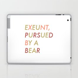 Shakespeare - The Winter's Tale - Exeunt Exit Pursued by a Bear Laptop & iPad Skin