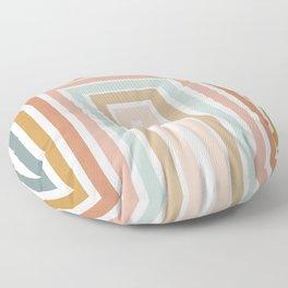 Geometric Rainbow 116 Floor Pillow