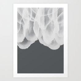 Ice Flow - Charcoal Art Print