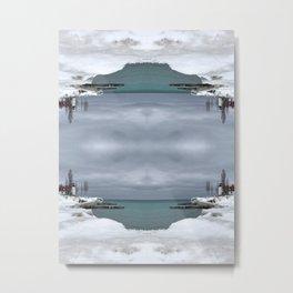 Point Betsie Lighthouse - Frozen Beach - Northern Michigan - Up North - frozen waves Metal Print