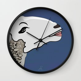 Flirty Sheep Wall Clock
