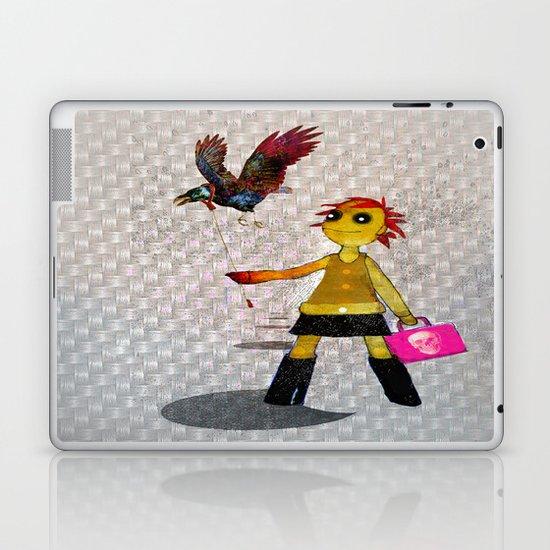 Miss Bella and Archibald his crow Laptop & iPad Skin