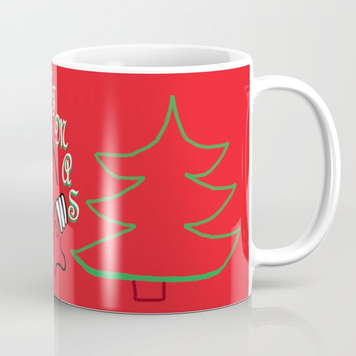American Sign Language O Christmas Tree Coffee Mug