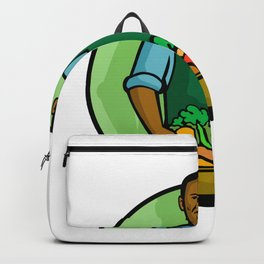 African American Green Grocer Greengrocer Mascot Backpack