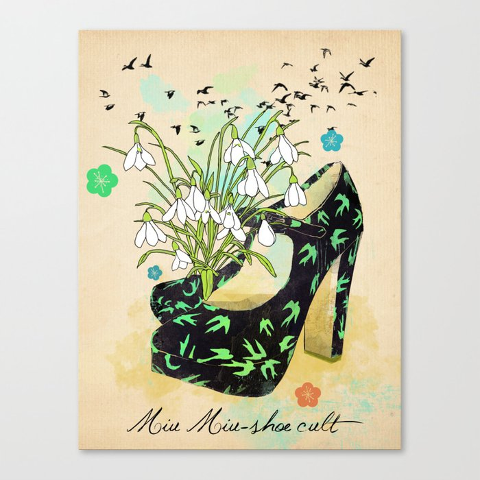 Miu Miu-shoe cult Canvas Print
