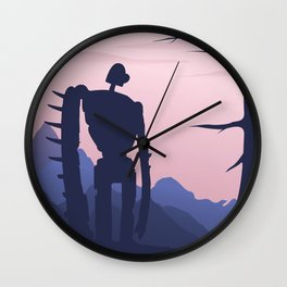 Laputa - Castle in the Sky Alternative Movie Poster Wall Clock