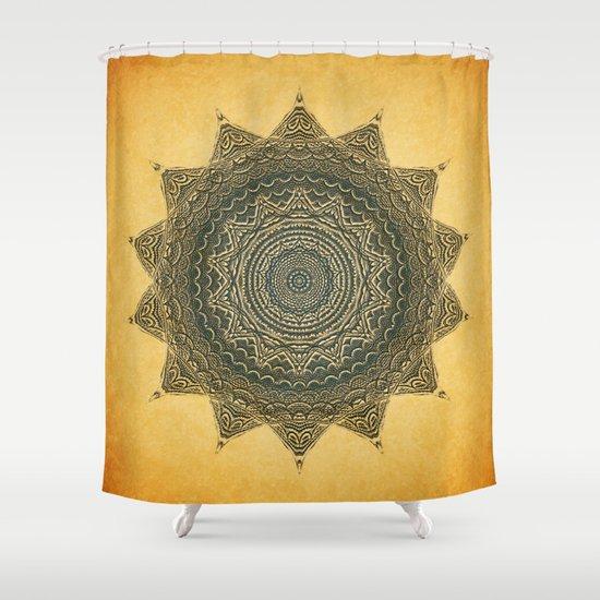 Sun Symbol Shower Curtain