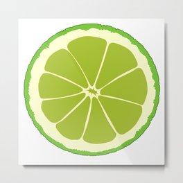 Lime Slice Metal Print