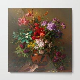 "George Jacobus Johannes van Os ""Still Life with Flowers in a Greek Vase Allegory of Spring"" Metal Print"