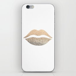 GOLD LIPS iPhone Skin