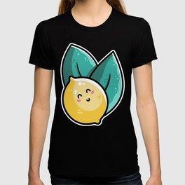 Kawaii Cute Lemon and Leaves T-shirt