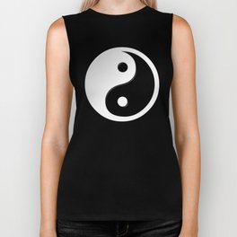 Yin Yang Symbol Biker Tank