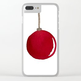 Red Ornament Clear iPhone Case