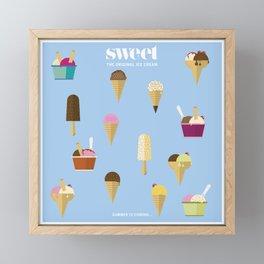 Sweet ice cream Framed Mini Art Print