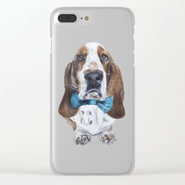 Basset Blues Clear iPhone Case