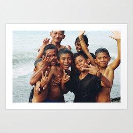 Kids (Sulawesi, Indonesia) Art Print