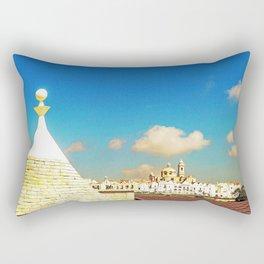 Panoramic view of Locorotondo Rectangular Pillow