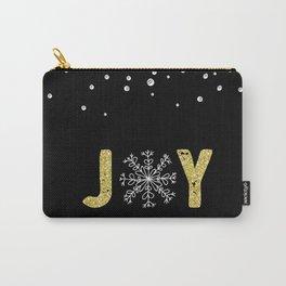 JOY w/White Snowflakes Carry-All Pouch