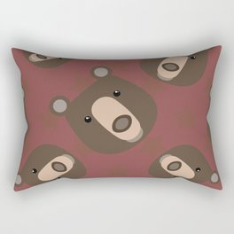 Pattern with bear Rectangular Pillow
