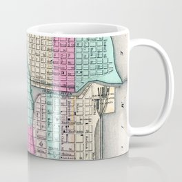 Vintage Map of Chicago IL (1855) Coffee Mug