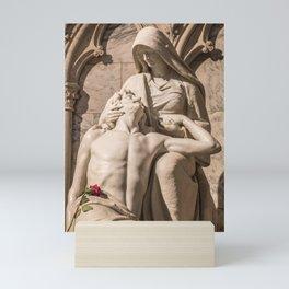 Compassion ~ Photo Of Jesus And Mary Pieta Sculpture Mini Art Print