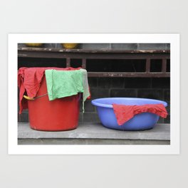 Buckets Art Print