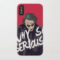 joker iPhone & iPod Cases featuring Joker  by FourteenLab