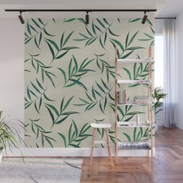 Watercolor seamless pattern on vintage paper. Wall Mural